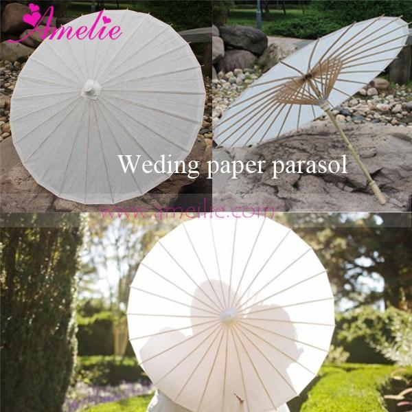 20 Pcs Lot Free shipping Party Wedding Bride White Paper Parasol