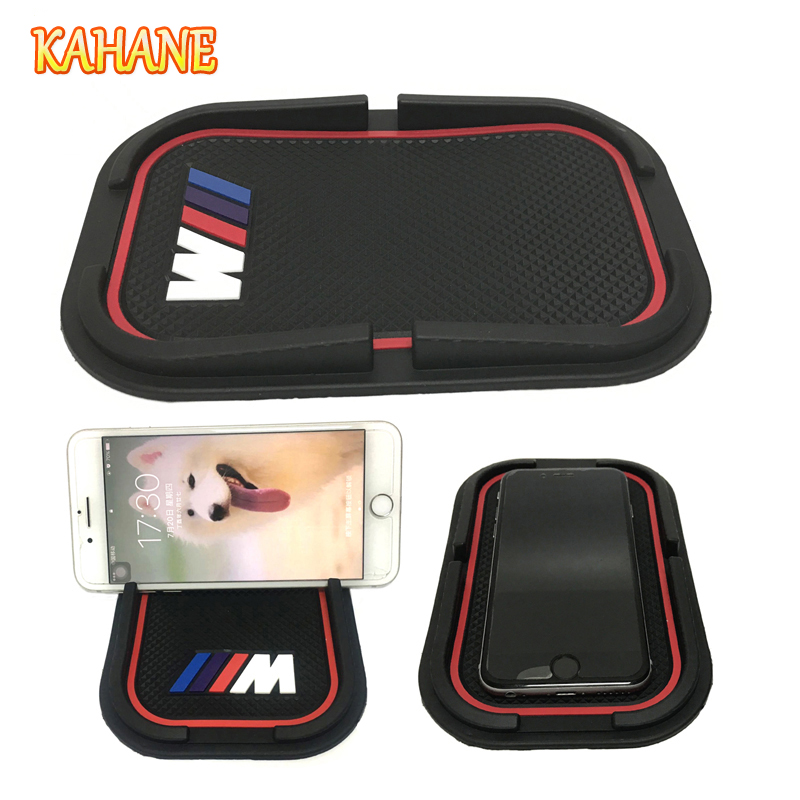 KAHANE /// M Non-Slip Mat Suporte Do Telefone do Carro Do Logotipo 3D Montagens Titular GPS Sat Nav para BMW M M3 M5 E60 E39 E46 E30 E36 E90 F10 F20 F30