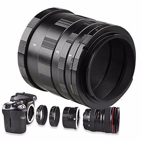 EACHSHOT Manual Macro Extension Tube Lens Ring Adapter DSLR Camera for Canon 1100D,1000D,650D,600D,550D,500D 9mm 16mm 30mm Lens