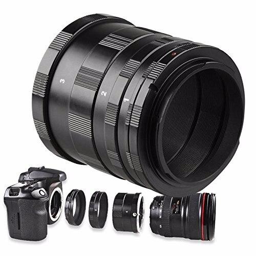 EACHSHOT Manuale Tubo di Prolunga Macro Lens Anello Adattatore Fotocamera DSLR per Canon 1100D, 1000D, 650D, 600D, 550D, 500D 9mm 16mm 30mm Lens