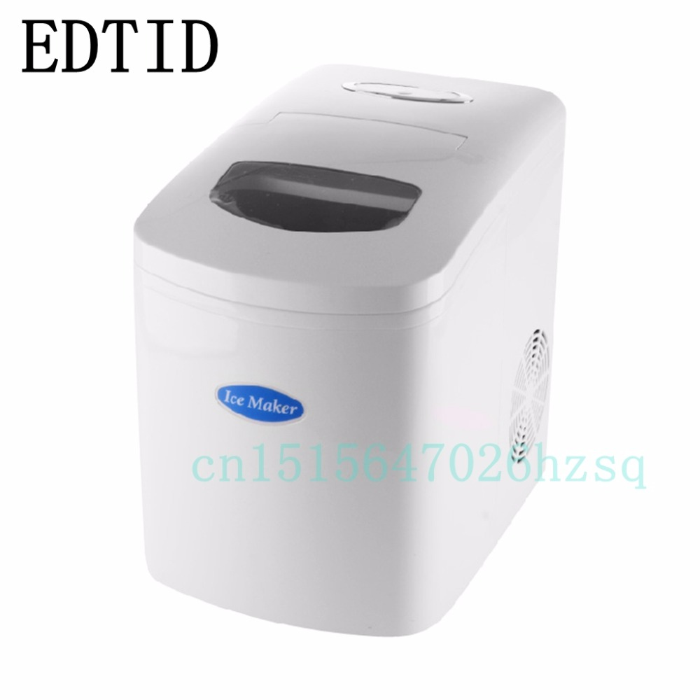 EDTID New high quality Milk tea shop bar home 10KG desktop Mini White Ice machine ice machine edtid 15kgs 24h portable automatic ice maker household bullet round ice making machine for family small bar mini coffee shop