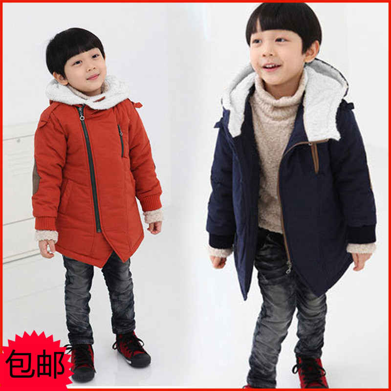 ФОТО New Arrival 2016 Autumn Winter Kid's Fashion & Casual Jackets Boy's Cashmere Long Sleeve Hooded Coats Kids Warm Clothing