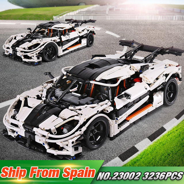 DHL 23002 Technic Series The MOC-4789 Changing Racing Car Set Building Blocks Bricks New Car Model Toys Kid Christmas Gifts