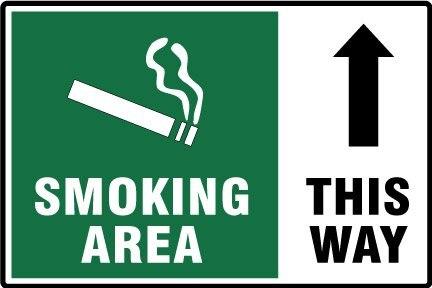 Курительная область таким образом, 6x4 дюймов, самоклеющаяся этикетка наклейка, код товара PL14