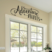 Adventure Awaits Wall Decal Vinyl Quote with Arrow Tribal Theme Room Decor bedroom waterproof wall sticker G420