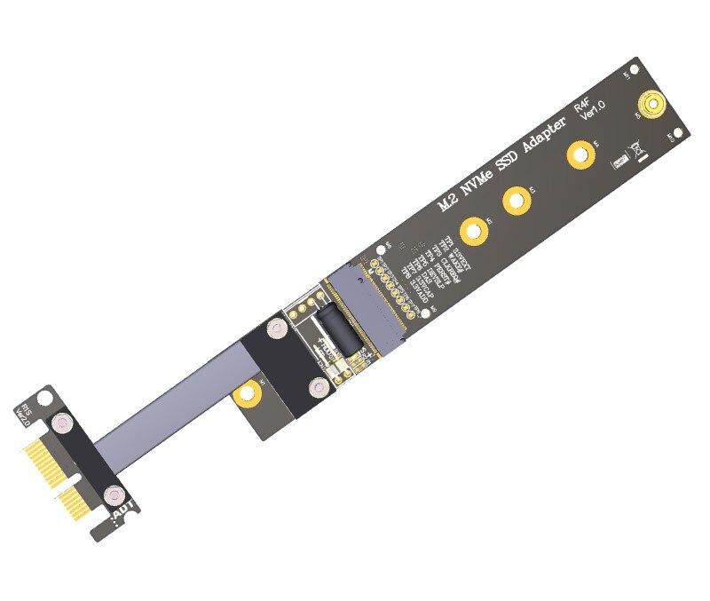 M.2 M clé NVMe SSD vers PCI-e PCIe x1 adaptateur carte Riser câble plat Flexible M2 keyM pci-express PCI Express 1x Gen3.0 R14SF