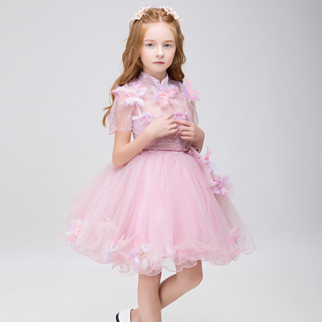 2017 Pink Tulle Flower Girl Dresses For Weddings Girls ...
