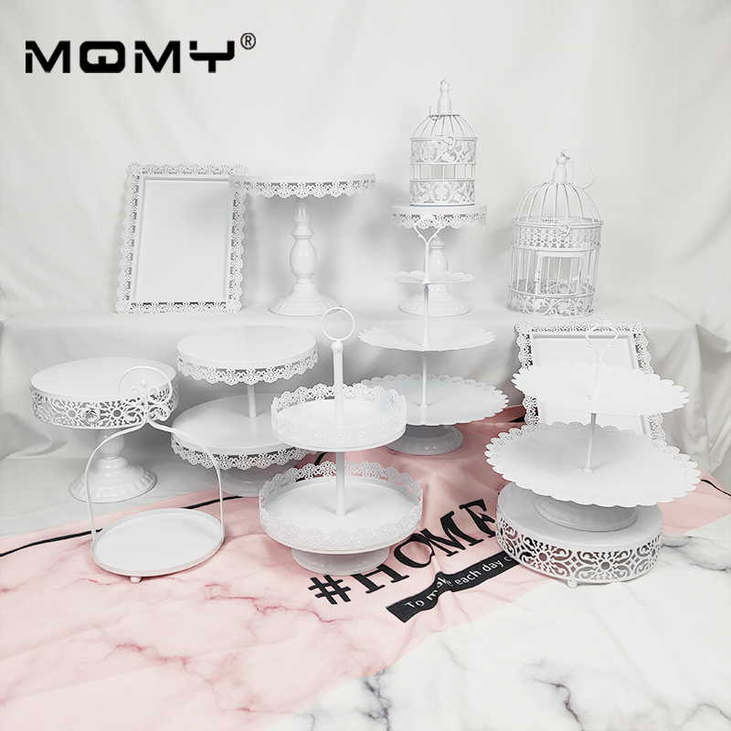 13pcs Set Vintage Cake Stand Holder Metal Crystal Cupcake Dessert Display Rack Serving Stand Party Wedding Decoration Accessory