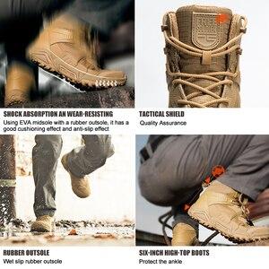 Image 2 - Soldat gratuit sports de plein air camping randonnée tactique militaire hommes bottes chaussures descalade léger botte de montagne