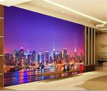 wallpaper city room promotion shop for promotional wallpaper city3d wallpaper custom photo mural living room city by the sea nightscape painting tv background non woven wallpaper for walls 3d