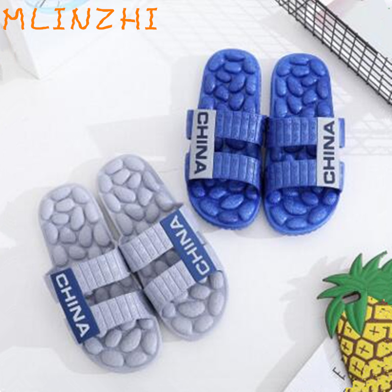 Reflexology Foot Acupoint Slipper Massage Promote Blood Circulation Relaxation Health Foot Care Shoes Pain Relief canghpgin светлый серый цвет номер l