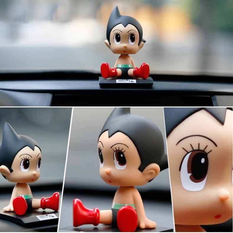 купить Anime Cartoon Astro Boy Wacky Wobbler Car Decorations PVC Figures Dolls Toys 12CM KT3778 по цене 415.18 рублей