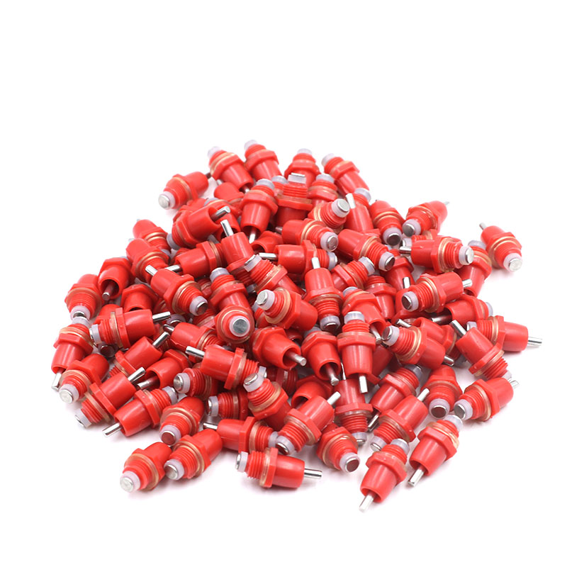 10/20/30 Pcs Chicken Water Nipple Drinkers Red Automatic Chicken Drinking Nipples Poultry Bird Quail Chick Feeding Nipple water