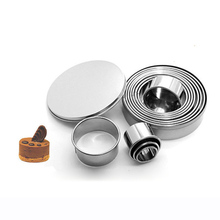 12pcs/set Food grade 304 Stainless Steel Round Cookie Cutter Biscuits Cake Fondant Mousse Doughnut Donut Mould Mold Baking Tool