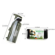 Outdoor Emergency Preparedness Portable Personal Water Filter Straw Backpacking Water Purifier for Hiking Camping Travelling