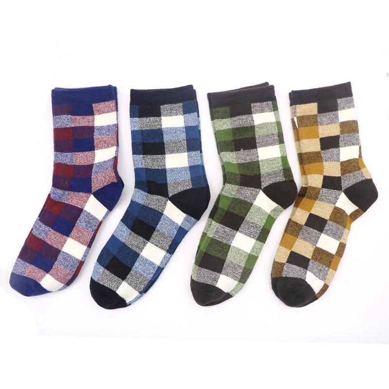 1Pair Mens Novelty Socks Classic Lattice New Fashion Hip Hop Socks For Mans Colorful Socks Odd Future Funny Sock Men