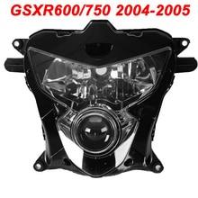 For 04-05 Suzuki GSXR600 GSXR750 GSXR 600 750 Motorcycle Upper Front Headlight Assembly Lamp Headlamp CLEAR 2004 2005 цена 2017
