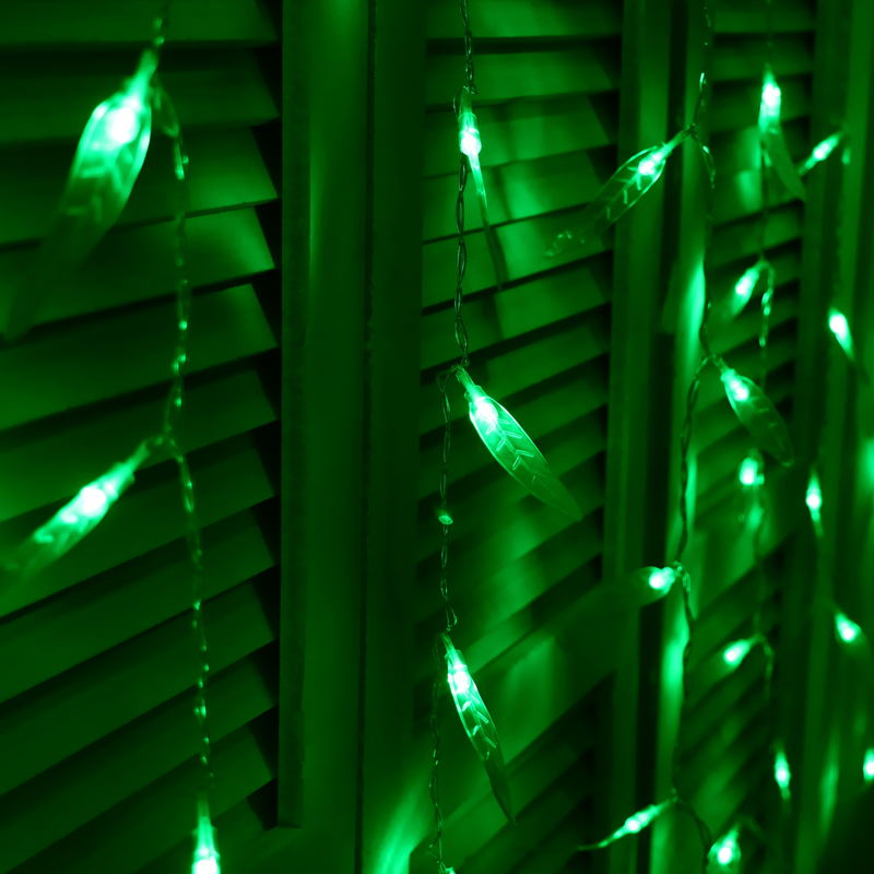JULELYS Willow Garland Window LED Perde Dritat Pushime dekorative LED - Ndriçimi i pushimeve - Foto 3
