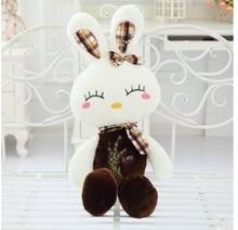 2015 new arrival Hight Quality Soft 60cm Lovely Stuffed  Dolls Plush Toy cute  Rabbit Doll Christmas Girl Birthday Gift