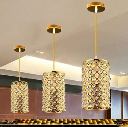Chrome/Gold New Modern Luxury Crystal Bar Suspension