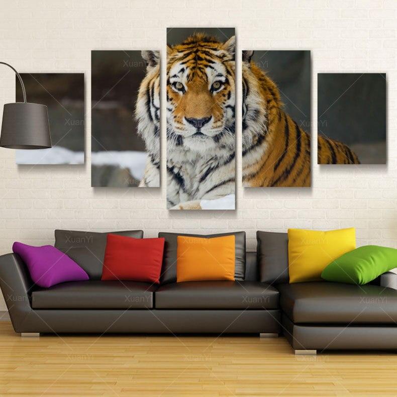 ჱ5 panel moderno impreso Tigre pintura cuadros cuadro animal ...