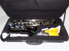 Alto Sax Black nickel With Case Eb Saxophone alto yellow brass body Musical Instruments professional