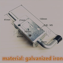 1pc Sale DS337 Material Galvanized Iron Spring Door Bolts Metal Lockset DIY Furniture Install Parts