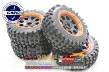 1/5 스케일 baja 5 t desert t1000 타이어 전방 및 후방 휠 및 타이어/세트
