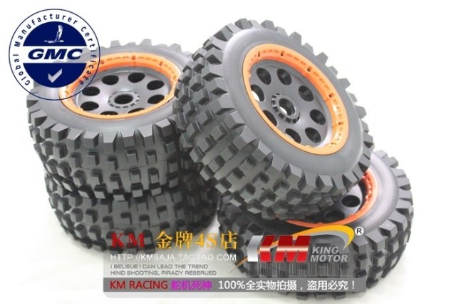 1/5 scale Baja 5T Desert T1000 TYRES Front & Rear wheel & tyres /set