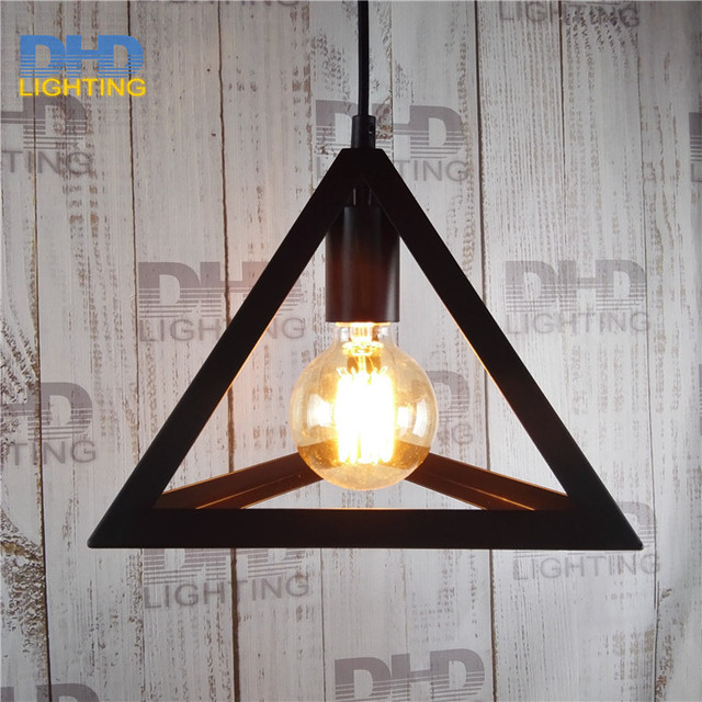 Art Deco Vintage Industrial Antique black Metal triangle Cage ...