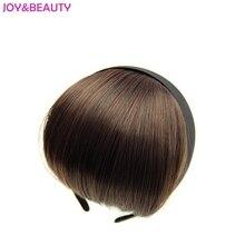 РАДОСТИ и КРАСОТЫ Термостойкие Синтетические Волосы Короткие Тупые Удары Женщины повязка Взрыва Волос 12 см Длинные 5 Цвета Доступны