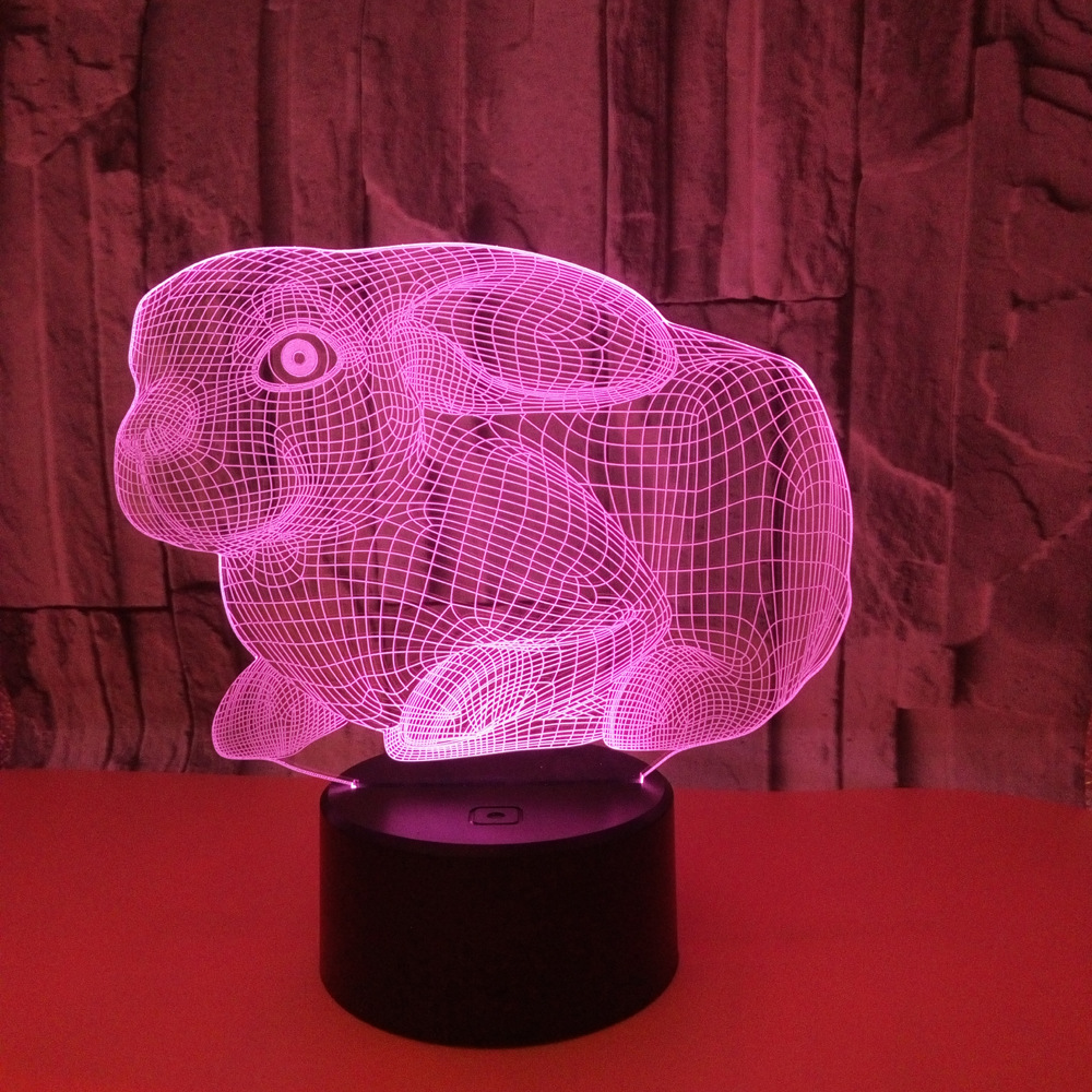Peacock 3D Lamp LED Lighting Color Change Sensor LED Animal 3D Night Light Home Room Decoration