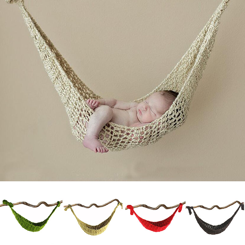 Smart Knitted Hammock Newborn Photography Props Hanging Bed Infant Baby Crochet Net Knit Clothes Outfits A105 Studio Baby Photo Props Hats & Caps Accessories