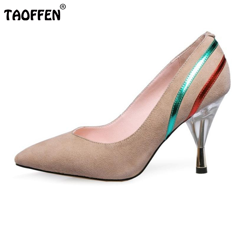 Brand Ladies Genuine Leather High Heeled Pumps Pointed Toe Thin Heels Shoes Women  Office Lady Vintage Footwears Size 34-40 bohemian plunging neck short sleeve floral dress for women