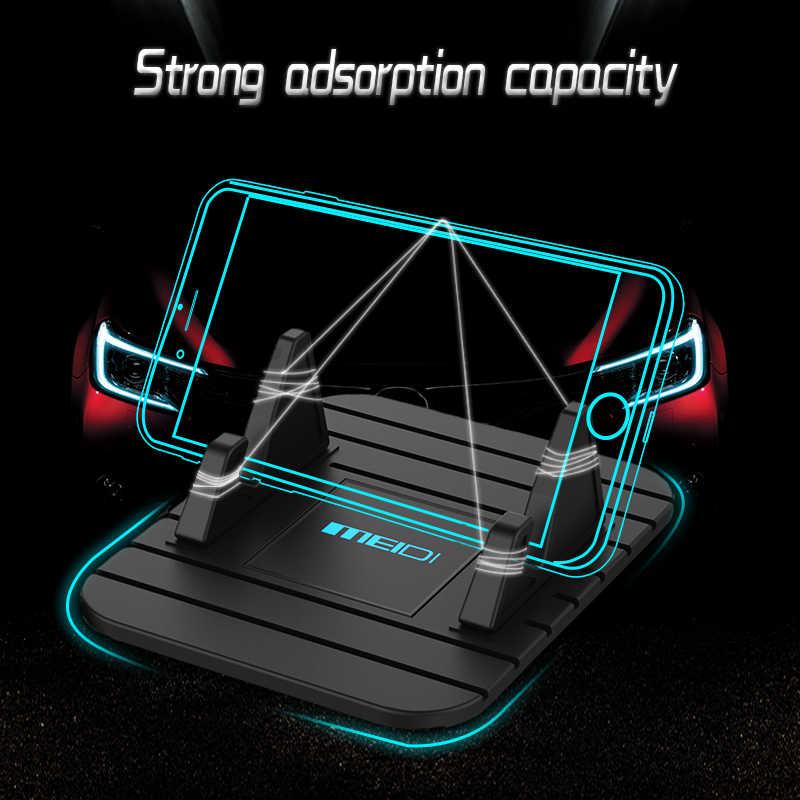 Meidi 자동차 대시 보드 비 슬립 매트 고무 마운트 전화 홀더 패드 삼성 xiaomi 모바일 홀더에 대 한 휴대 전화 스탠드 브래킷