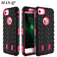 For Coque iPhone 6 6S 7 8 plus Tire Dual Layer Defender Case For iPhone 7 TPU + Hard Plastic Heavy Duty Armor Hybrid Phone Cover