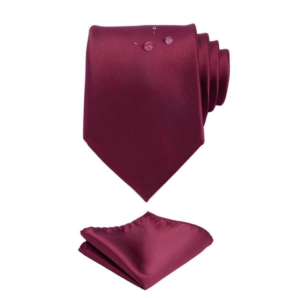 GUSLESON الصلبة الرسمي التعادل للماء ربطة العنق الجيب ساحة مجموعة الزفاف الأعمال الكلاسيكية الرجال رباط العنق الحريري 8 سنتيمتر Corbatas الأزياء