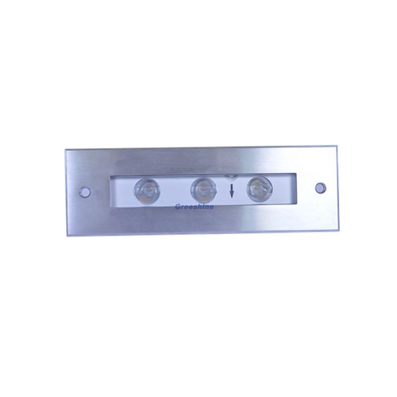 316 acier inoxydable 24 V 9 W LED piscine lumière RGB IP68 sous-marine lumière LED carré encastré Inground lampe 6 pcs/lot