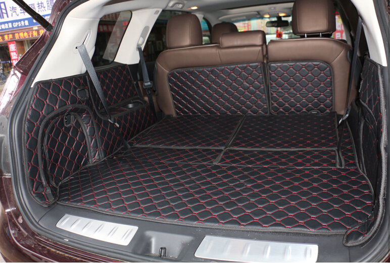 New Special Trunk Mats For Nissan Pathfinder 7seats 2015