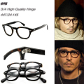 High Quality  2 Size Johnny Depp Style Glasses Men Retro Vintage Prescription Glasses Women Optical Spectacle Frame Round