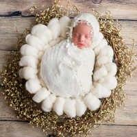 ถักมือเด็กอ่อนผ้าห่มถ่ายภาพ Super หนา 100% ผ้าขนสัตว์ Chunky ผ้าห่มเด็กแรกเกิดตะกร้า Filler การถ่ายภาพทารกแรกเกิด Props