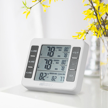 Buy online Mini Digital Thermometer Temperature Meter with Wireless Outdoor Transmitter 0C-50C with Measurement C/F Max Min Value Display