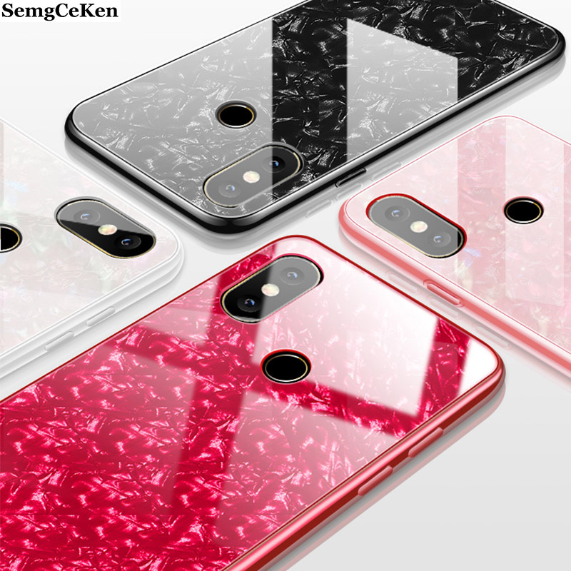 SemgCeKen Hard marble tempered glass case for huawei honor 8x max 8c 9 view note 10 v10 luxury protective phone hard back coque