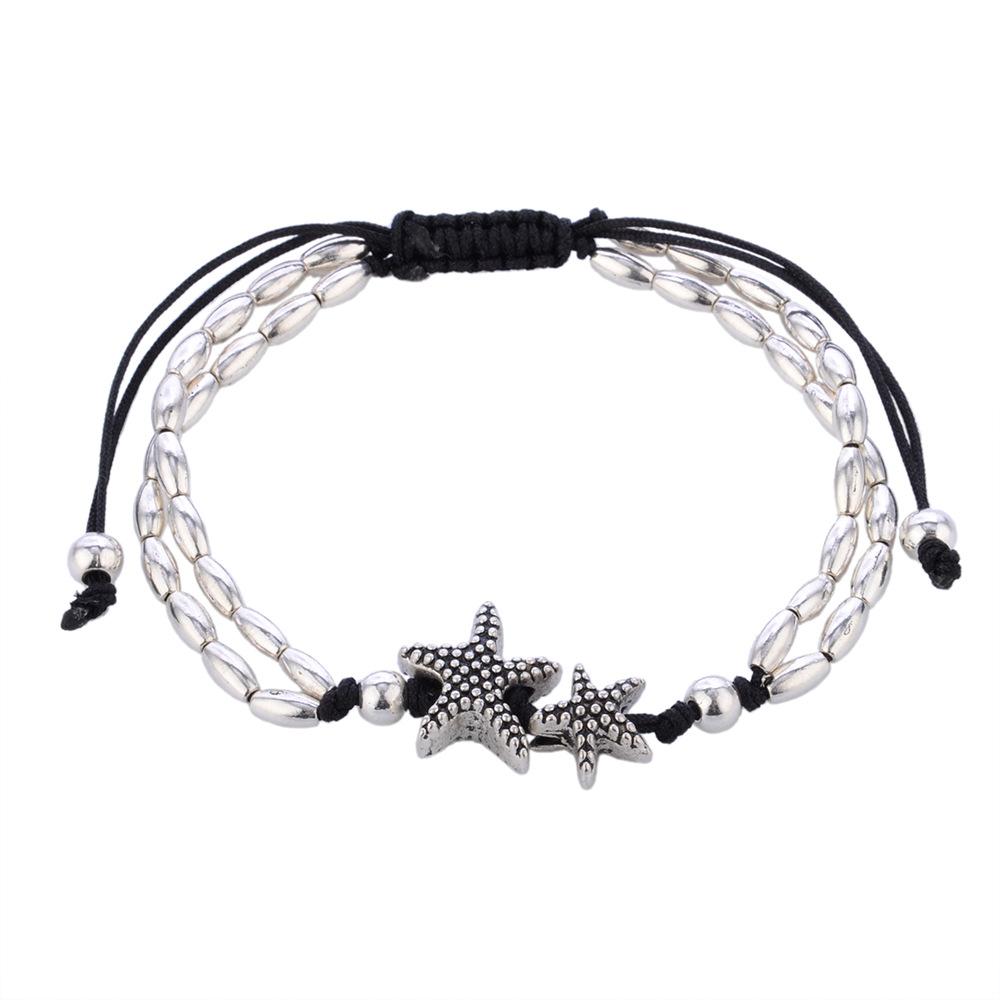 2017 Boho Starfish Bracelet Anklet Vintage Beads Ankle Yoga OM Bracelet For Women Foot Jewelry Gift Sandals Beach Bracelet