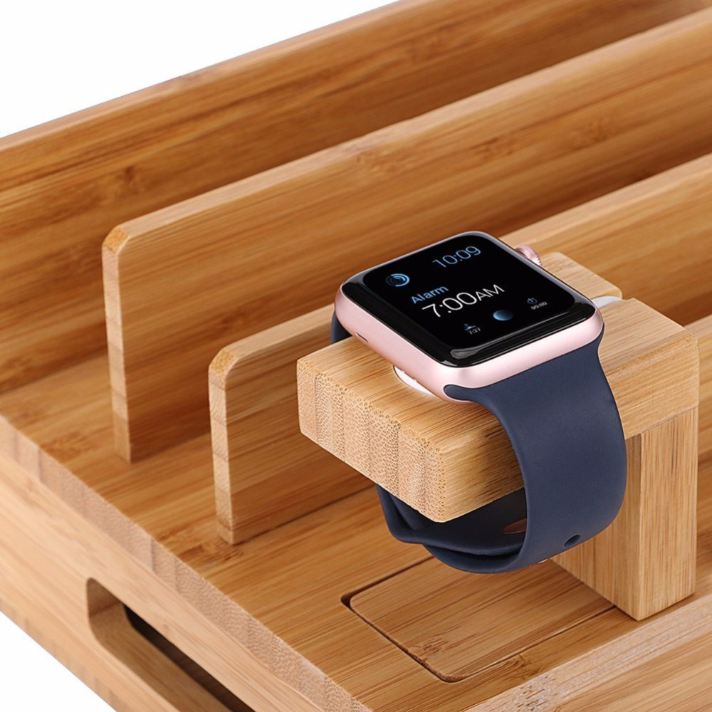 Multi-Device Charging Station Dock & Organizer - Multiple Finishes Available. For Laptops, Tablets, and Phone for Apple Watch