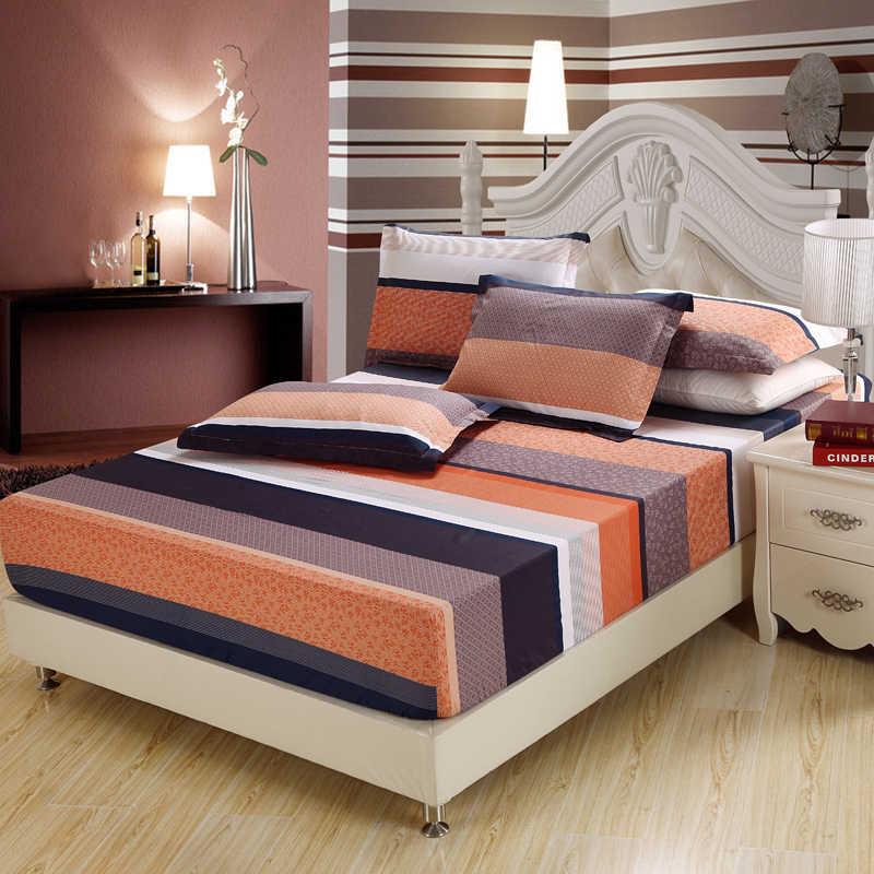3Pc 100% coton satin rayure lit drap housse matelas couverture matelas protecteur maison hôtel twin pleine reine king size couvre-lit