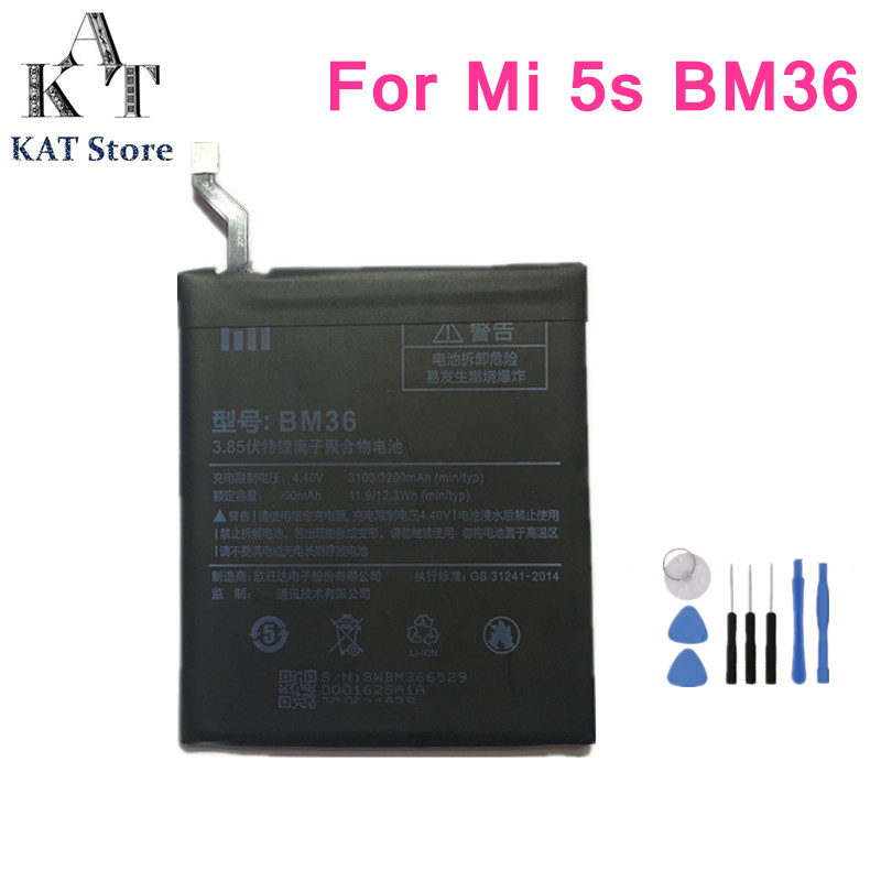 Phone-Battery Xiaomi Battery-Replacement BM36 3100mah For 5S Mi5s High-Quality AAA Gift-Tools