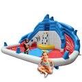Yard inflável da corrediça de água inflável parque aquático com canhões de play ground com piscina de verão ao ar livre