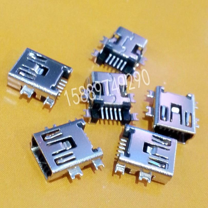 New Mini USB Type B SMD Female Socket 5-Pin 5 Pin Jack Connector Port 10pcs lot mini usb connector female b type 5pin pcb mounting smd usb socket female jack 2 0