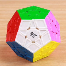 ФОТО 12-sides magic speed cube puzzle megaminx shengshou stickers dodecachedron yj colorful cubo magico toys for children wholesale